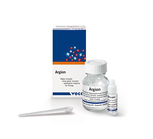 Argion – глас-йономерен цимент за обтурации